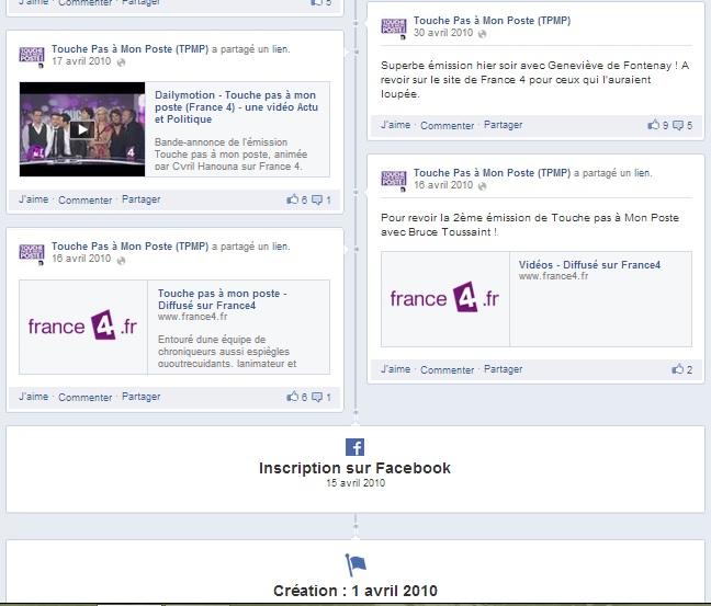 Actus - TPMP, quand les réseaux sociaux font une émission TV - Début page FB