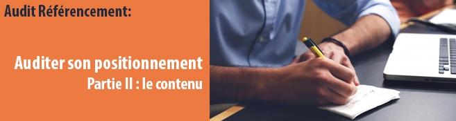 Auditer le référencement d'une page : le contenu