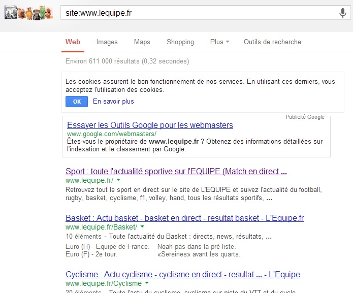 SEO - Auditer son positionnement - LEQUIPE