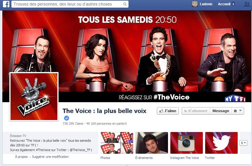 The Voice - Communication sur les réseaux sociaux