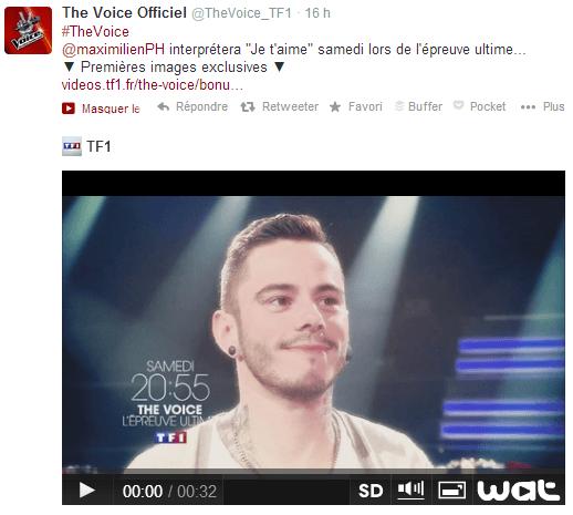 The Voice sur Twitter - Social TV