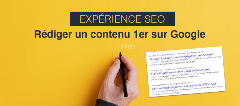 experience redaction de contenu web