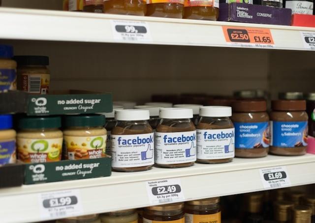 les réseaux sociaux en produits de supermarché