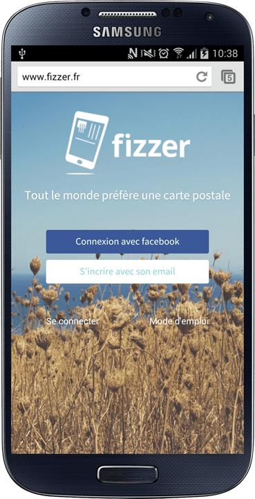 Envoyez vos cartes postales avec Fizzer