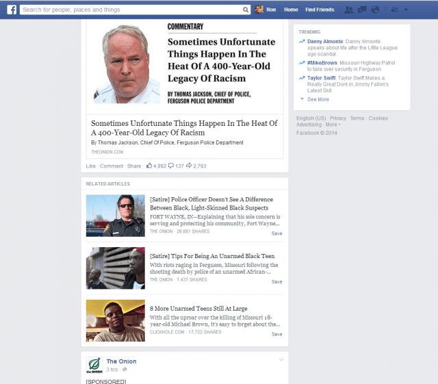 Facebook teste le tag satire