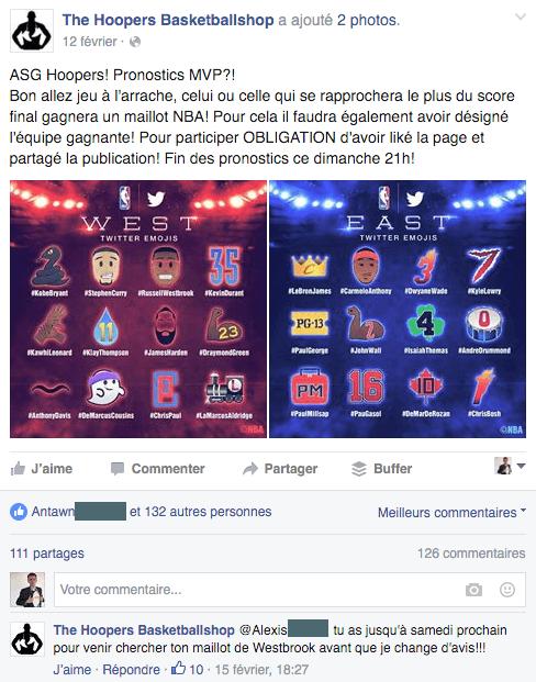 Commerçants et jeux concours sur les réseaux sociaux