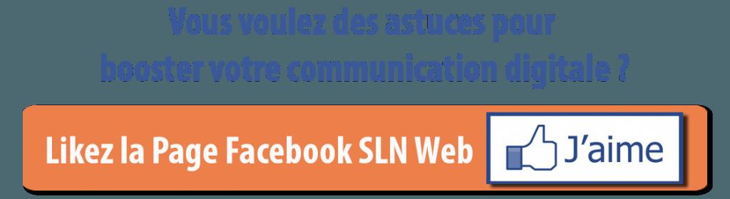 retrouvez SLN Web sur Facebook