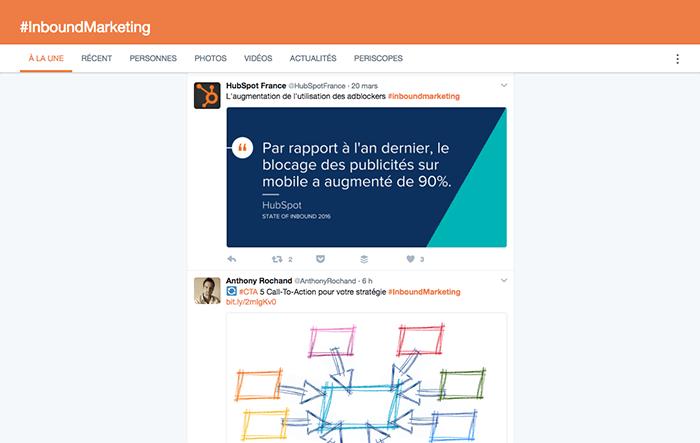 trouver des idées d'articles de blog sur Twitter