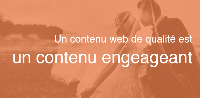 un contenu web est un contenu engageant