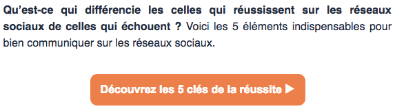 faire un emailing - le call to action