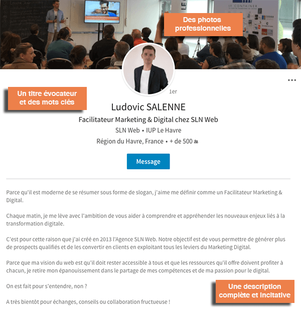 comment faire un profil linkedin prospection
