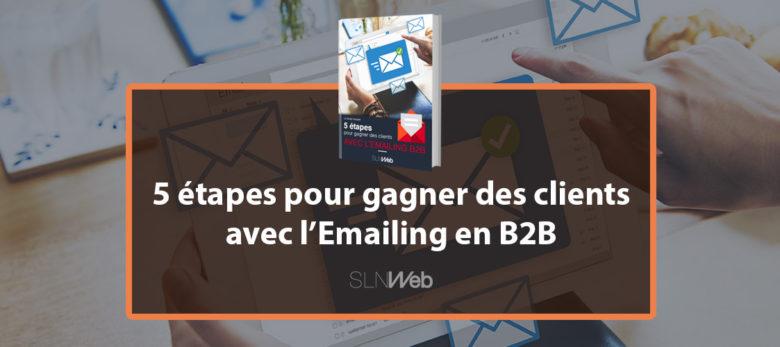 livre blanc - 5 etapes pour gagner des clients avec l'emailing en B2B