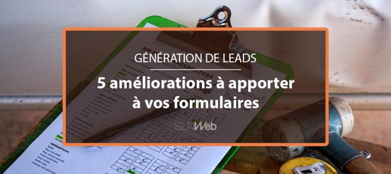 les formulaires de génération de leads en B2B