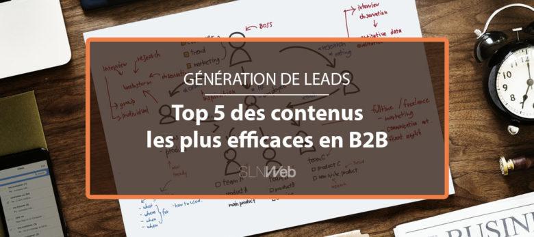 les meilleurs contenus generation de leads en B2B