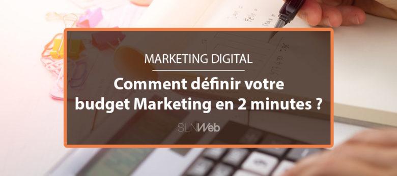 2 minutes pour définir son budget marketing en B2B