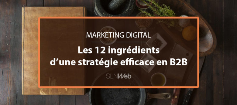 Créer une stratégie marketing digital B2B efficace, les 12 ingredients