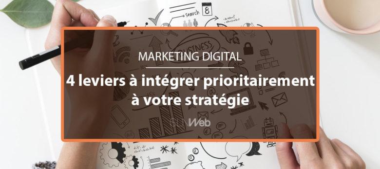 4 leviers incontournables pour créer votre stratégie marketing digital