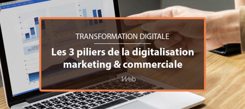 3 piliers transformation digitale marketing et commerciale
