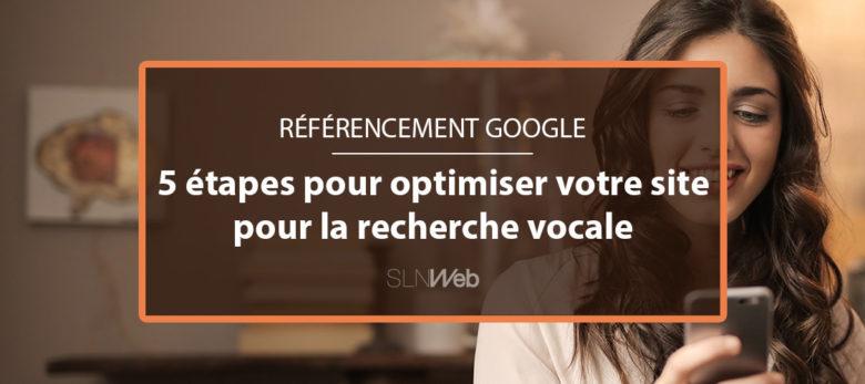 recherche vocale et référencement google