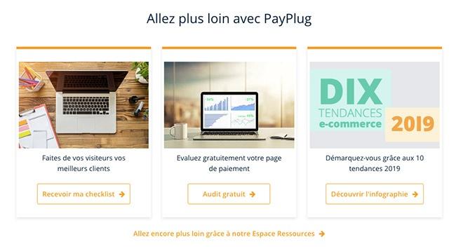 un exemple de CTA - Payplug