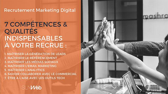 quelles compétences recruter en marketing digital