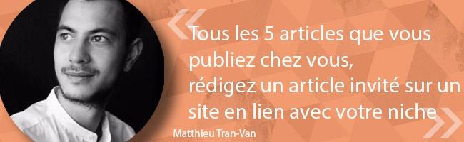 SEO - les astuces de Matthieu Tran-Van