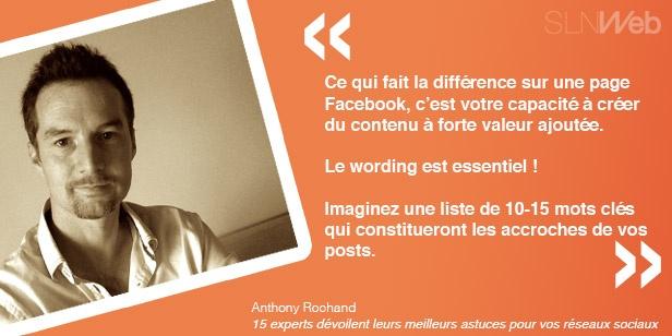 Astuces Anthony Rochand réseaux sociaux