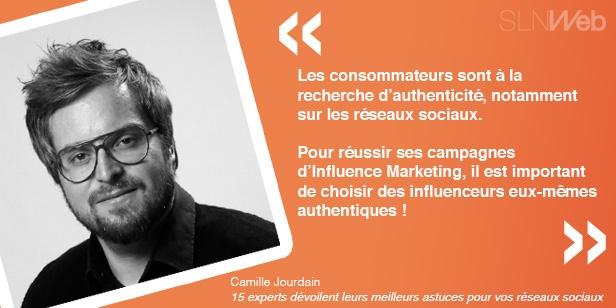 Astuces Camille Jourdain pour communication réseaux sociaux