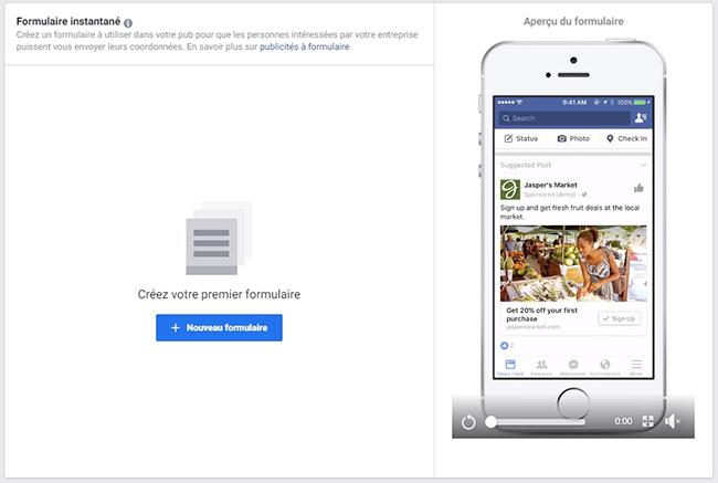 generer des leads avec le formulaire dans facebook ads