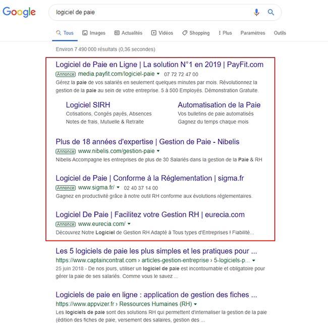 Exemple annonces Google Ads pour générer des Leads