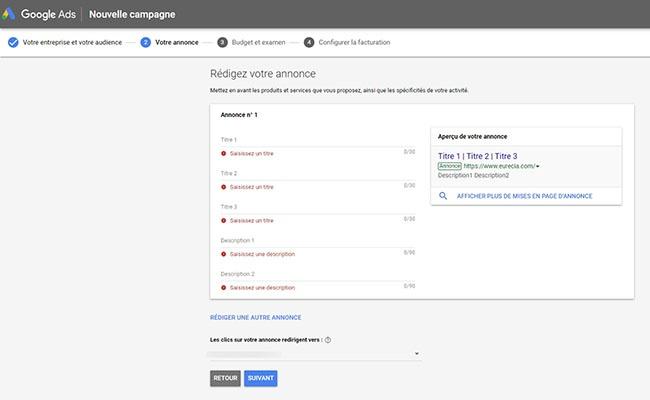 comment créer une annonce Google Ads