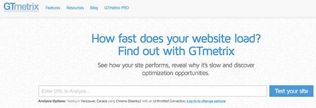Auditer son référencement avec gtmetrix