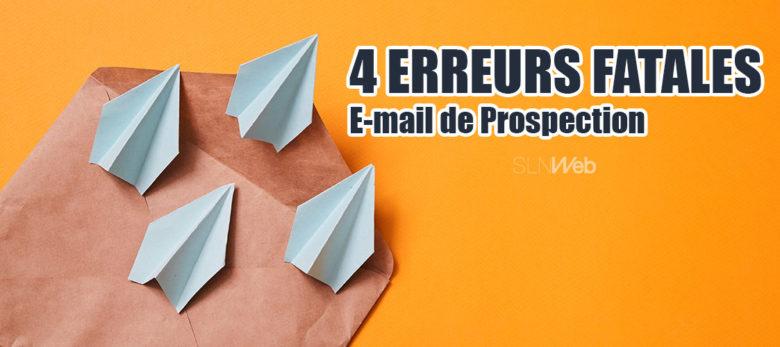 4 erreurs a eviter dans un email de prospection