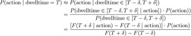 dwell time et theoreme de bayes