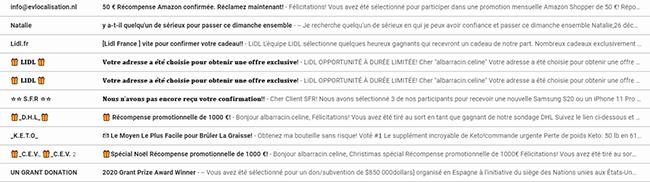 emailings qui arrivent en spam