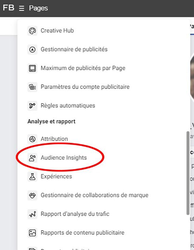 faire une analyse concurrentielle sur facebook