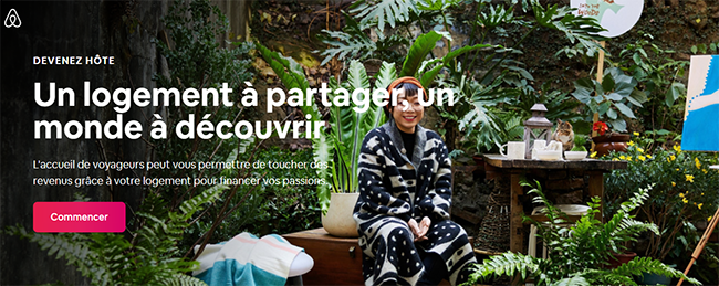 landing page inbound marketing par airbnb