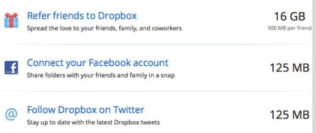 un exemple de growth hacking chez Dropbox