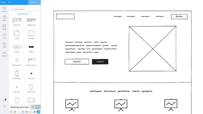 Un exemple de création de maquette de site internet sur un outil