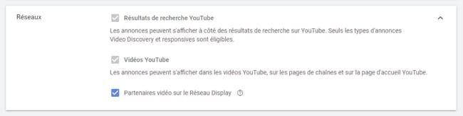 Le choix des emplacements de diffusion des YouTube Ads