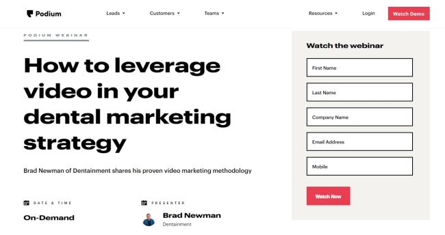 Un exemple d'intégration de webinar dans une stratégie de content marketing