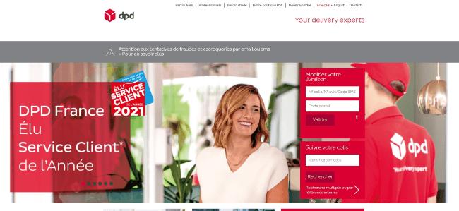 Un exemple de homepage mettant en avant les récompenses de l'entreprise