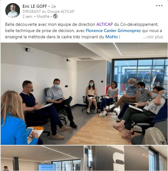 Exemple de post LinkedIn chez Alticap