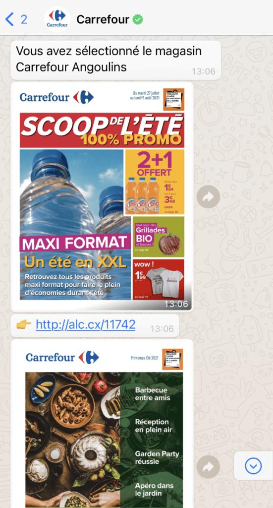 Carrefour envoie automatiquement des offres aux clients qui ont laissés leurs coordonnées