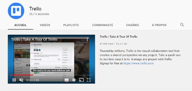 Exemple de vidéo YouTube chez Crello