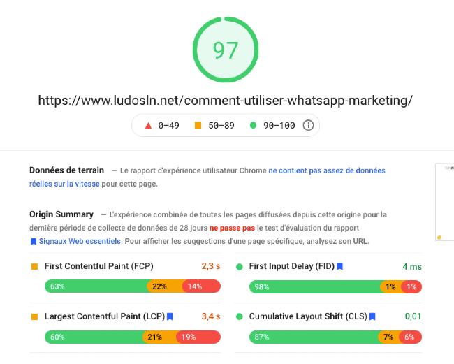 Google Page Speed Insight tutoriel