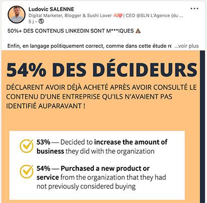 l'impact de linkedin dans la décision d'achat